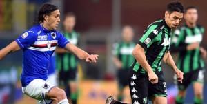 Genova, 06/12/2015 Serie A/Sampdoria-Sassuolo Matias Agustin Silvestre-Sergio Floccari