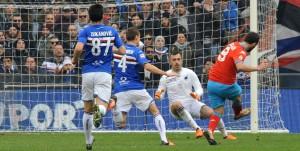 24-01-2016: GENOVA, SAMPDORIA-NAPOLI CAMPIONATO SERIE A TIM 2015-2016 Il goal di Gonzalo Higuain dello 0-1