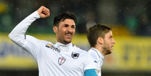 Verona, 05/03/2016 Serie A/Hellas Verona-Sampdoria Gol Sampdoria (0-1): esultanza Roberto Soriano-Ricardo Gabriel Alvarez