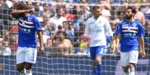 Genova, 08/05/2016 Serie A/Sampdoria-Genoa Gol Genoa (0-1): delusione Lucas Martins Fernando-Mattia Cassani