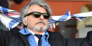 Genova, 24/04/2016 Serie A/Sampdoria-Lazio Massimo Ferrero (presidente Sampdoria)