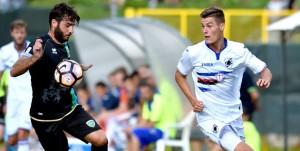 Temu (Brescia), 27/07/2016 Sampdoria/Ritiro 2016-17 - Sampdoria-Feralpisalo (Amichevole) Guido Davi-Patrik Schick