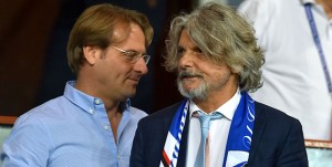 Genova, 16/09/2016 Serie A/Sampdoria-Milan Massimo Ferrero (presidente Sampdoria)