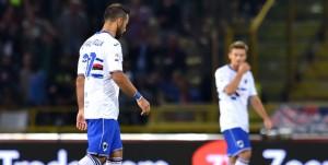 Bologna, 21/09/2016 Serie A/Bologna-Sampdoria Gol Bologna (2-0): delusione Fabio Quagliarella