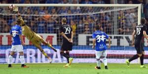 Genova, 16/09/2016 Serie A/Sampdoria-Milan Gianluigi Donnarumma-Lucas Sebastian Torreira