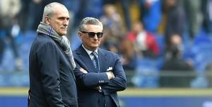 Genova, 18/03/2017 Serie A/Sampdoria-Juventus Antonio Romei (avvocato Massimo Ferrero)-Daniele Prade (responsabile area tecnica Sampdoria)