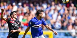 Genova, 24/09/2017 Serie A/Sampdoria-Milan Nikola Kalinic-Gian Marco Ferrari
