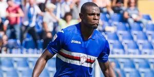 Genova, 24/09/2017 Serie A/Sampdoria-Milan Gol Sampdoria (1-0): esultanza Gaston Exequiel Pereyra Ramirez-Duvan Esteban Zapata