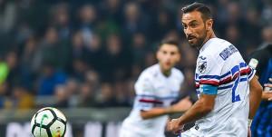 Milano, 24/10/2017 Serie A/Inter-Sampdoria Fabio Quagliarella-Danilo D'Ambrosio