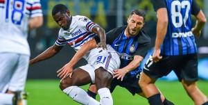 Milano, 24/10/2017 Serie A/Inter-Sampdoria Duvan Esteban Zapata-Danilo D'Ambrosio