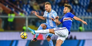 Genova, 3/12/2017 Serie A/Sampdoria-Lazio Ciro Immobile-Gian Marco Ferrari