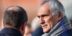 Genova, 19/11/2017 Serie A/Sampdoria-Juventus Carlo Osti (d.s. Sampdoria)-Antonio Romei (avvocato Massimo Ferrero)