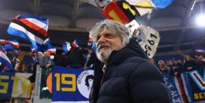 28-01-18 Roma-Sampdoria Campionato Serie A Tim 2017-18 Il Presidente Massimo Ferrero a bordocampo prima della partita
