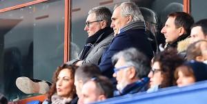 Genova, 30/12/2017 Serie A/Sampdoria-Spal Daniele Prade (responsabile area tecnica Sampdoria)-Antonio Romei (avvocato Massimo Ferrero)