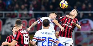 Milano, 18/02/2018 Serie A/Milan-Sampdoria Lucas Sebastian Torreira-Giacomo Bonaventura