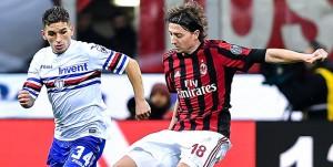 Milano, 18/02/2018 Serie A/Milan-Sampdoria Lucas Sebastian Torreira-Riccardo Montolivo