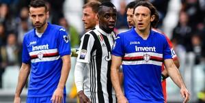Torino, 15/04/2018 Serie A/Juventus-Sampdoria Gian Marco Ferrari-Benedikt Howedes-Blaise Matuidi-Gianluigi Buffon-Edgar Osvaldo Barreto