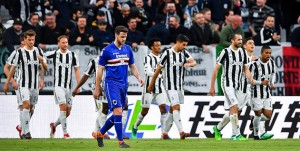 Torino, 15/04/2018 Serie A/Juventus-Sampdoria Gol Juventus (1-0): delusione Jacopo Sala