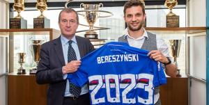 Genova, 27/04/2018 Sampdoria/Bereszynski - Rinnovo Carlo Osti (d.s. Sampdoria)-Bartosz Bereszynski